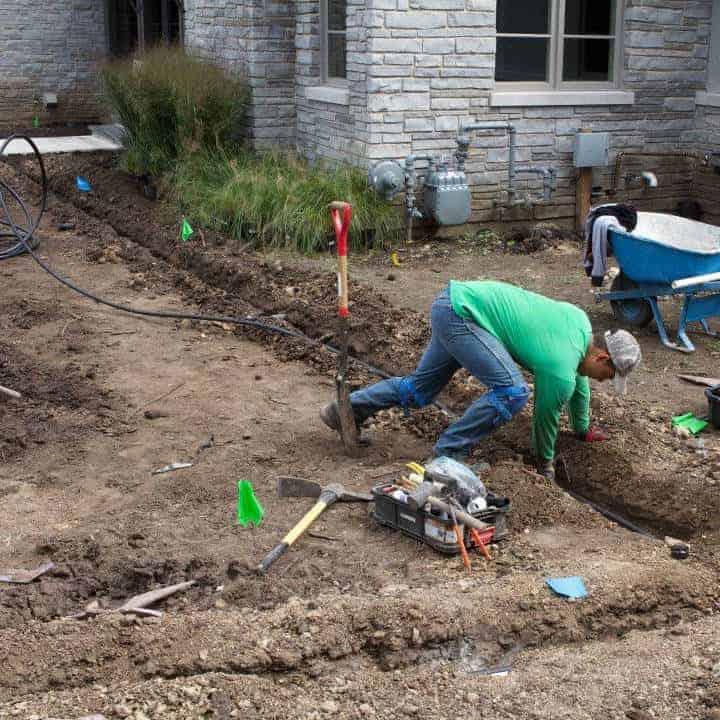 Milieu services square irrigation drainage